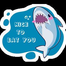 Shark Nice to Eat You Sticker