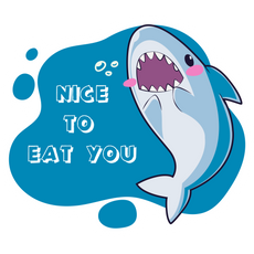 Shark Nice to Eat You Sticker