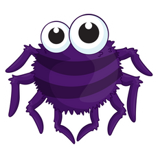 Cute Purple Spider Sticker
