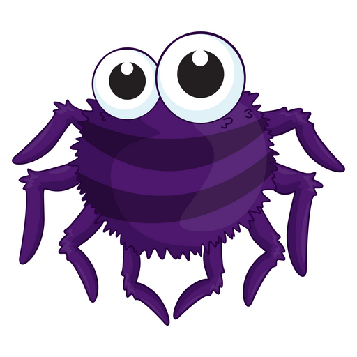 Cute Purple Spider Sticker