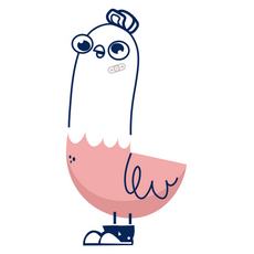 Cool Young Pigeon Sticker