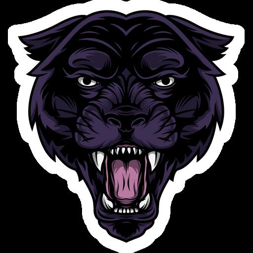 Furious Black Panther Sticker