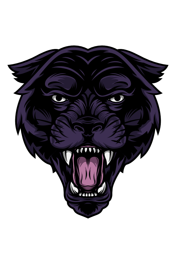 Furious Black Panther Sticker