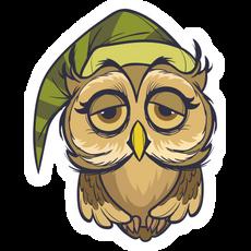 Sleepy Owl Sticker