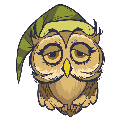 Sleepy Owl Sticker