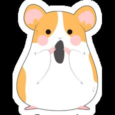 Cute Hamster with a Grain Sticker