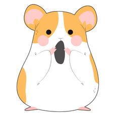 Cute Hamster with a Grain Sticker