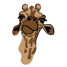 Giraffe Head Sticker