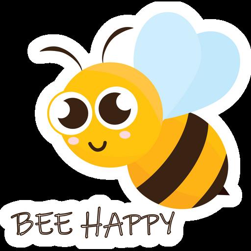 Cute Bee Happy Bee Sticker