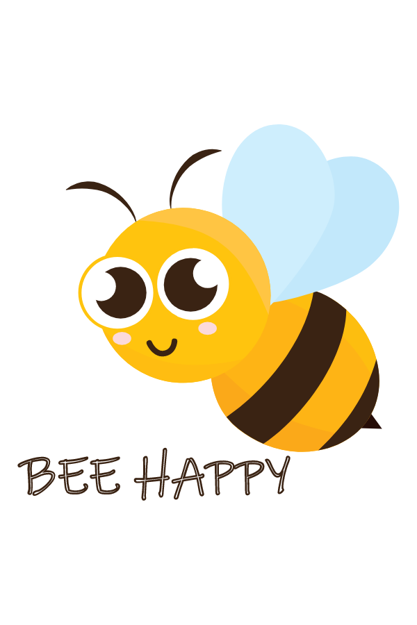 Cute Bee Happy Bee Sticker