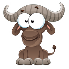 Cute Buffalo Sticker