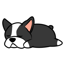 Cute Sleeping Bulldog Sticker
