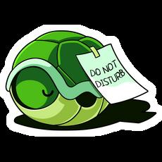 Turtle Shell Do Not Disturb Sticker