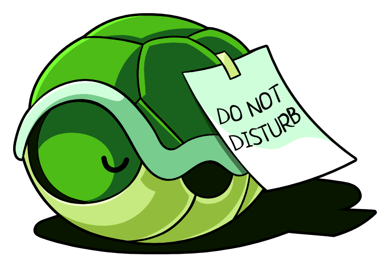 Turtle Shell Do Not Disturb Sticker