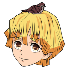 Demon Slayer Zenitsu Agatsuma Sticker