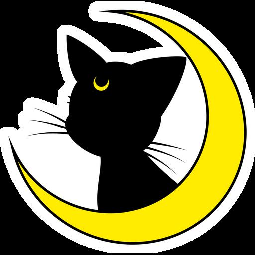Sailor Moon Luna Cat Sticker