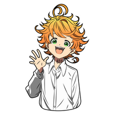 The Promised Neverland Emma Sticker