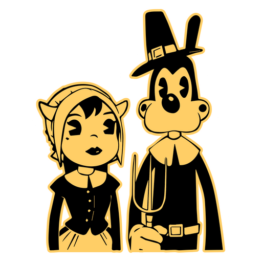 American Gothic Alice Angel and Boris Sticker