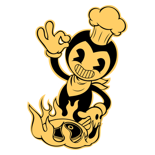 Bendy Cooking Sticker