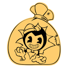 Bendy in Gift Bag Sticker