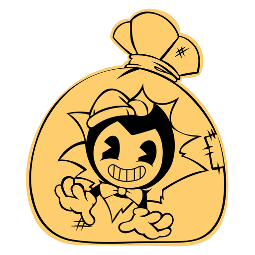 Bendy in Gift Bag Sticker