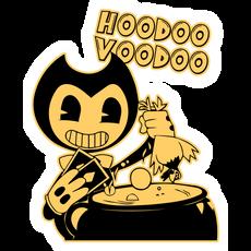 Bendy Hoodoo Voodoo Sticker