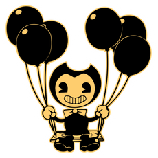 Bendy on Swing Sticker