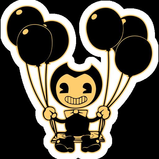 Bendy on Swing Sticker