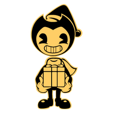 Christmas Bendy with a Gift Sticker