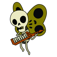 Adventure Time Skeleton Butterfly Sticker