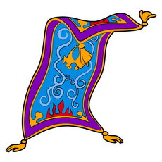Aladdin Carpet Sticker