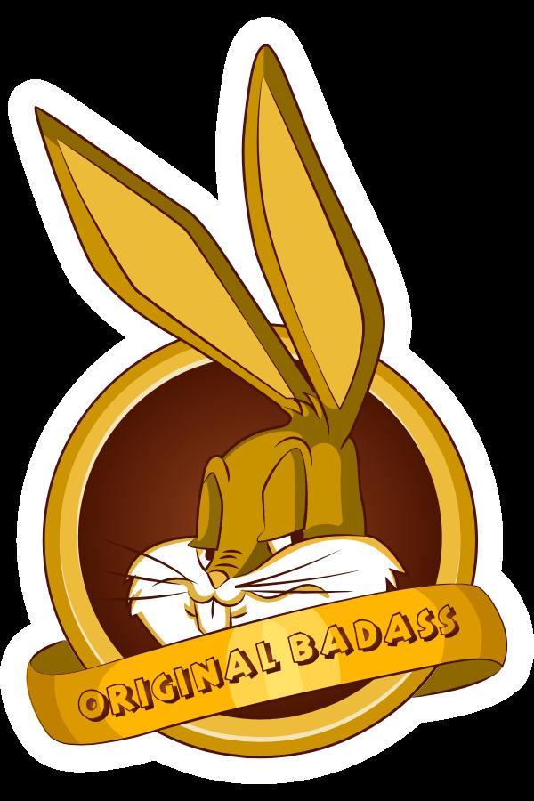 Bugs Bunny Original Badass Sticker