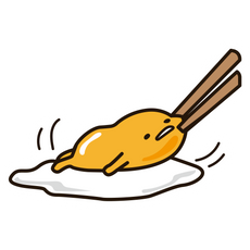 Cheek Pinch Gudetama Sticker