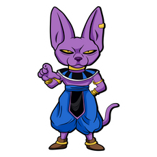 Dragon Ball Beerus Sticker