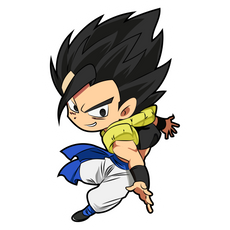 Dragon Ball Gogeta Chibi Sticker