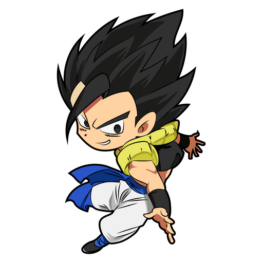 Dragon Ball Gogeta Chibi Sticker