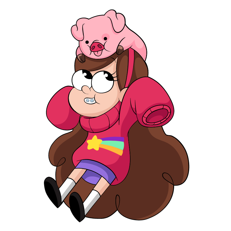 Gravity Falls Mabel and Waddles Sticker