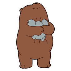We Bare Bears Grizz Hugs Nom Nom Sticker