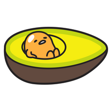 Gudetama in Avocado Sticker