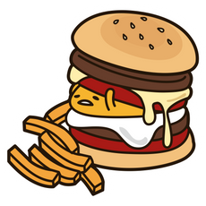 Gudetama in Burger Sticker