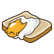 Gudetama On Bread Sticker