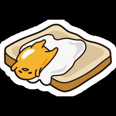 Gudetama On Bread Sticker