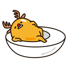 Gudetama Christmas Deer Sticker