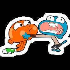 Gumball and Darwin Sticker