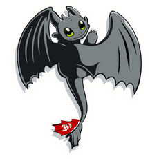 How to Train Your Dragon Night Fury Toothless Sticker
