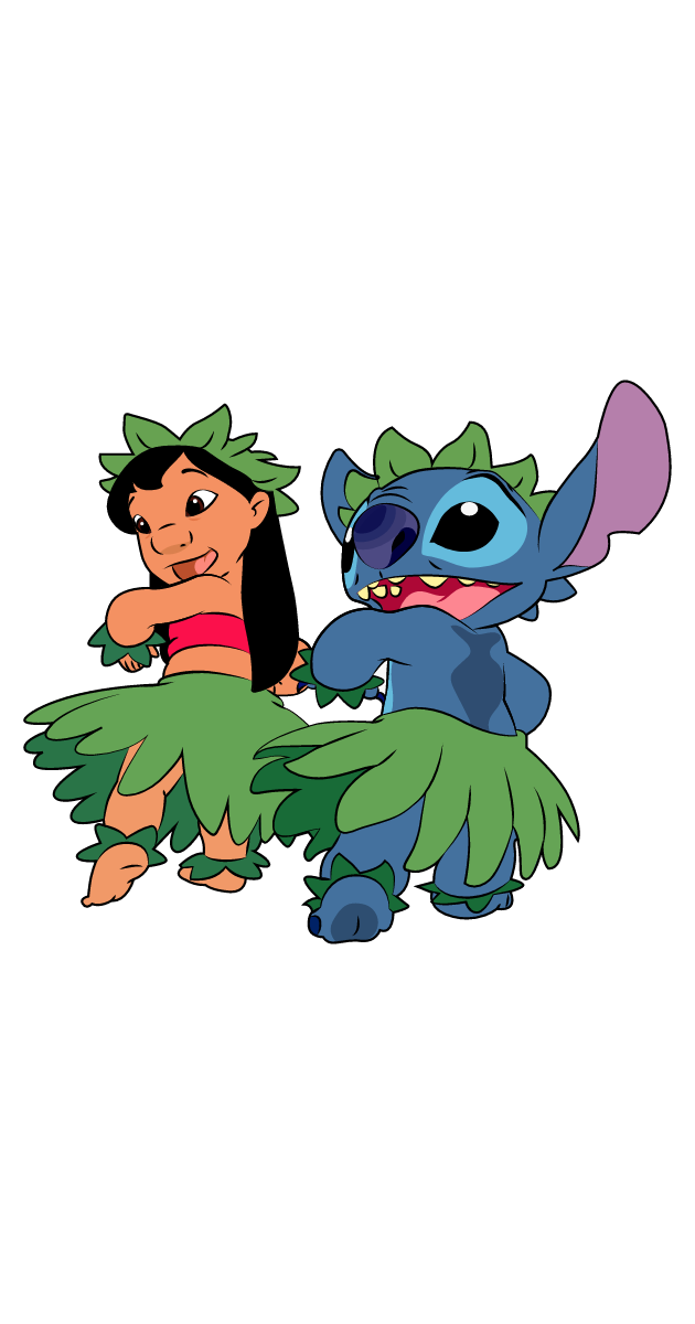 Lilo & Stitch Hula Dance Sticker