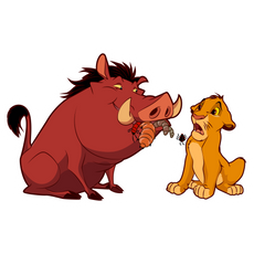 The Lion King Pumbaa and Simba Sticker