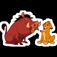 The Lion King Pumbaa and Simba Sticker