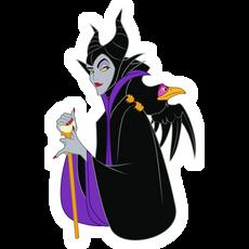 Maleficent with Raven Sticker