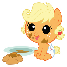My Little Pony Baby Applejack with Fritters Sticker